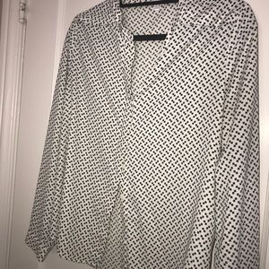 Black and white spotted blouse